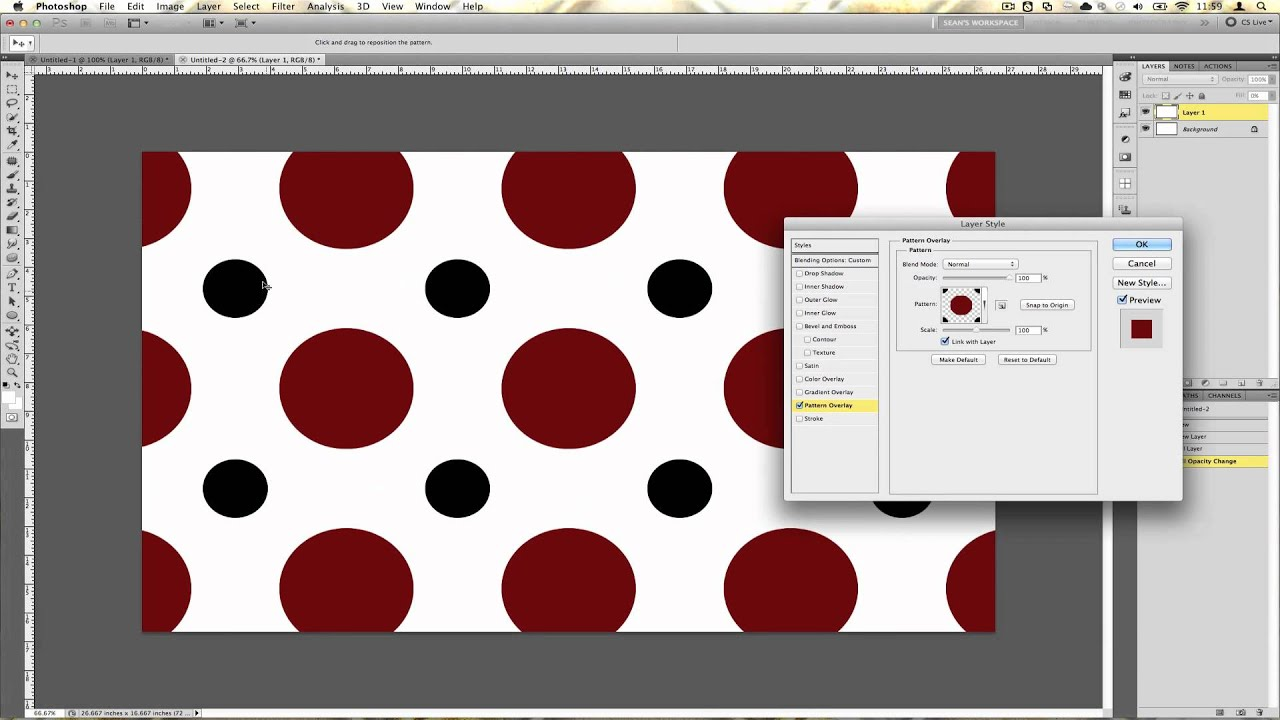how to create a seamless pattern in photoshop youtube