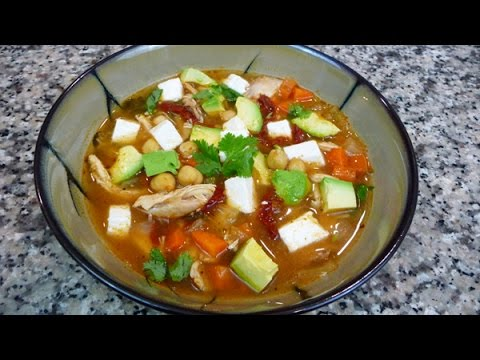 Easy Mexican Recipe, Tlalpeño Soup recipe, Caldo Tlalpeño