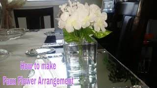 DIY: Faux Water Flower Arrangement - Dollar Tree items
