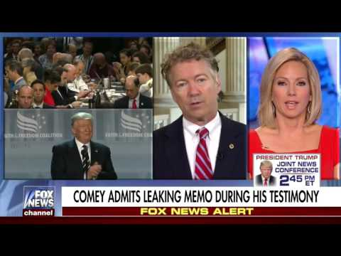 Sen. Rand Paul on Comey Hearing and Government Surveillance - June 9, 2017