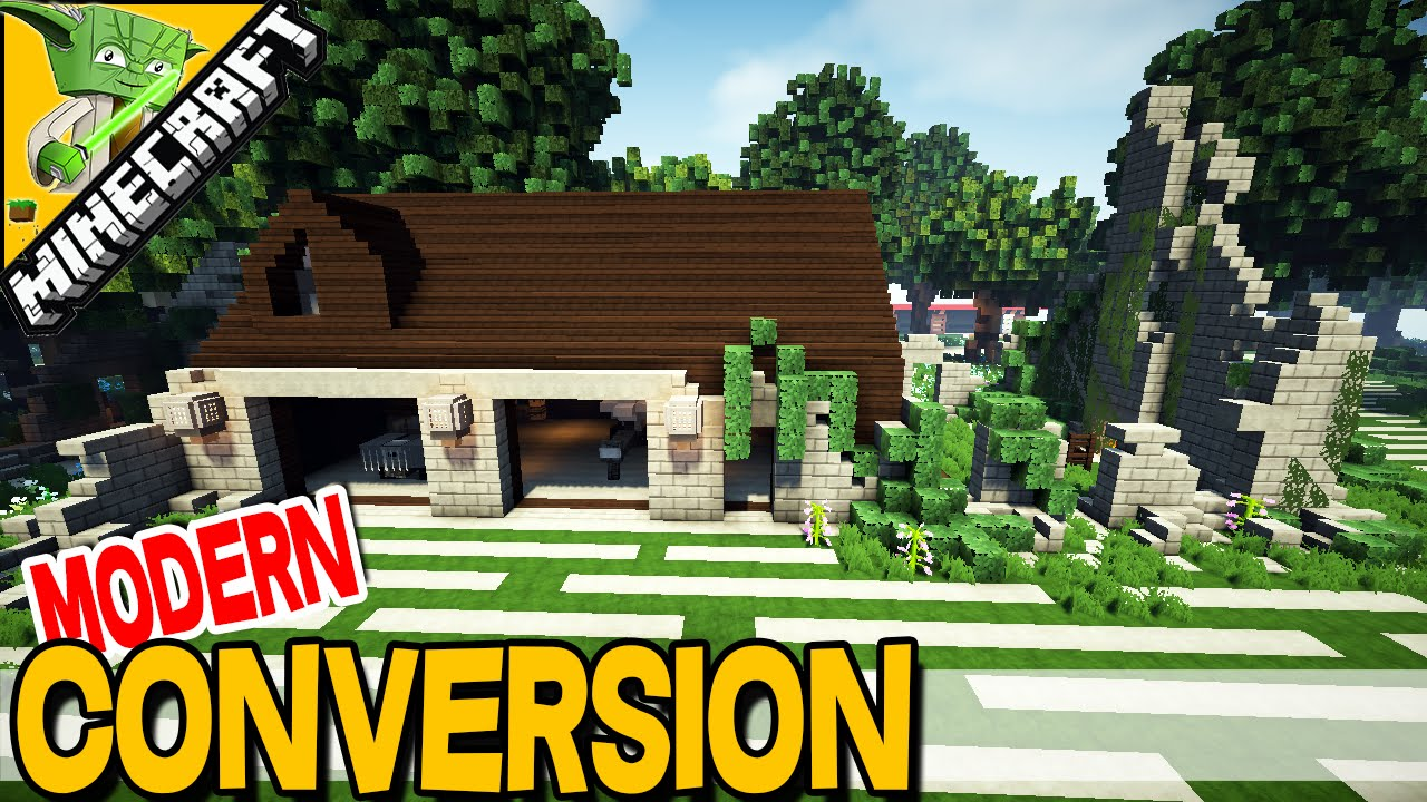 Modern House Conversion Minecraft inspiration with Keralis YouTube