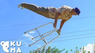 The Secret to Staying Young - Old Man Trampoline Tricks