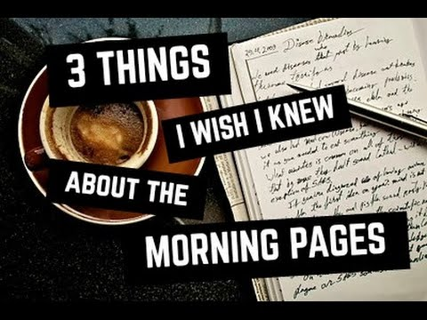 Julia cameron morning pages