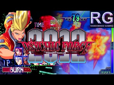 Psychic Force 2012 - Sega Dreamcast - Secret Intro & Story Mode as Burn [HD 1080p 60fps]
