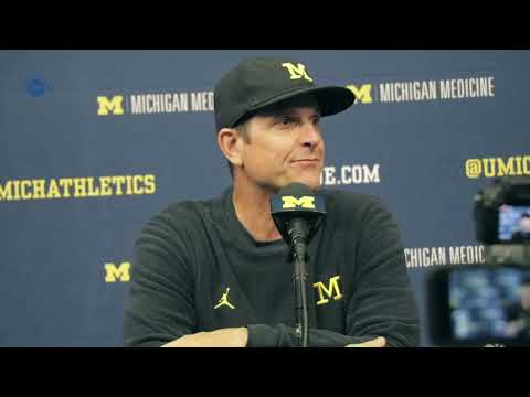 Postgame: Michigan Football Head Coach Jim Harbaugh vs. Maryland