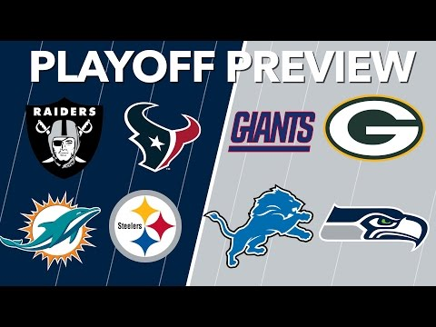 NFL Wild Card Playoff Predictions 2017