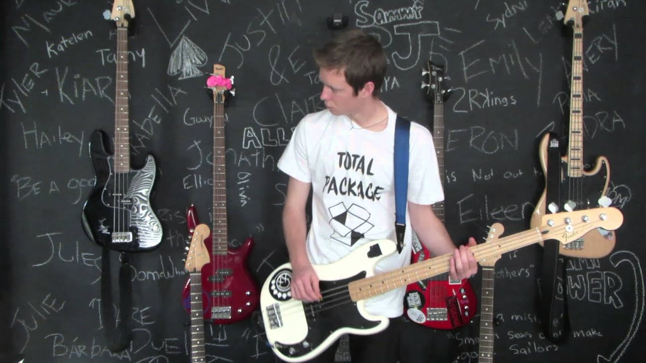 punk rock 101 bowling for soup bass cover youtube. Black Bedroom Furniture Sets. Home Design Ideas