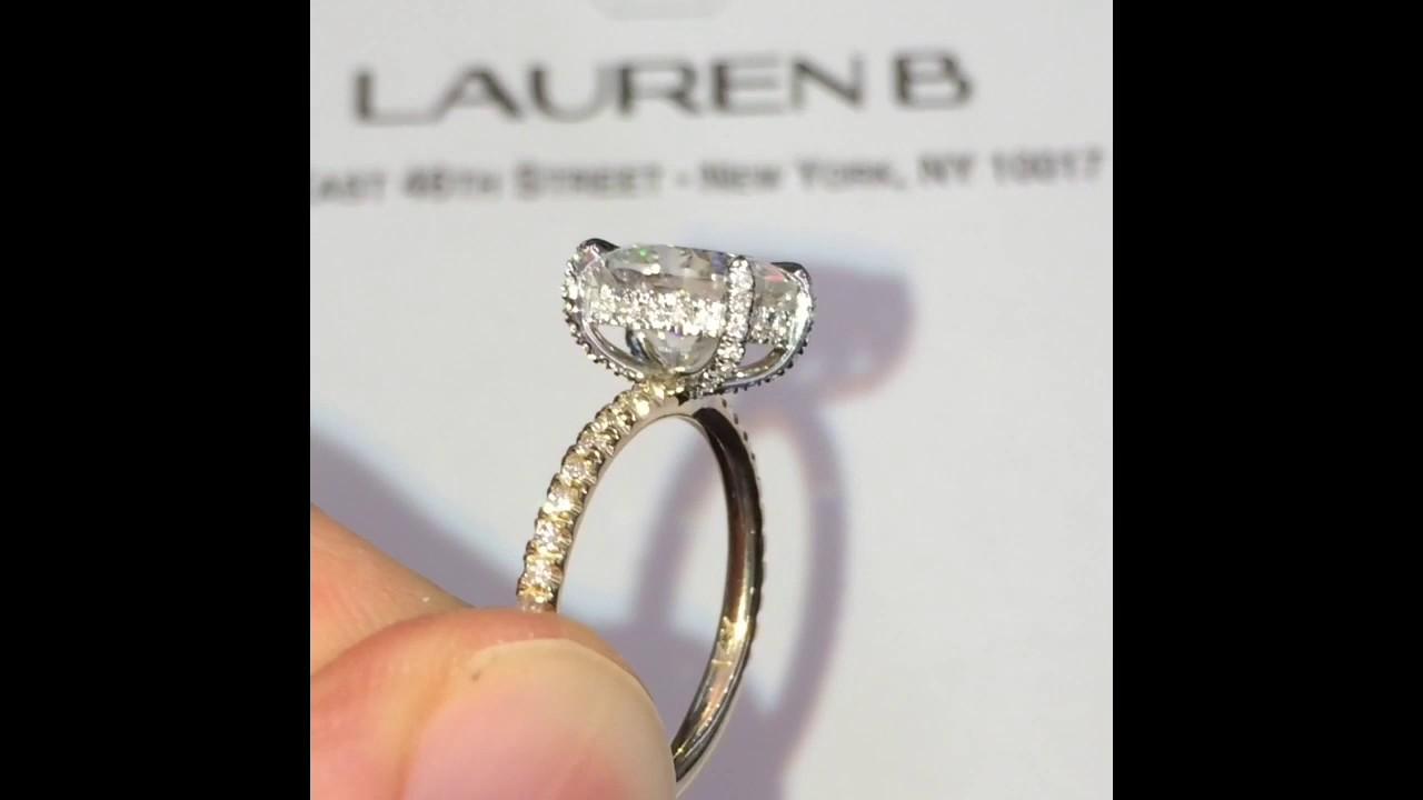 2 Carat Oval Moissanite Engagement Ring