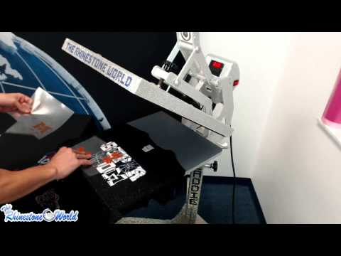 How To Press A Multi Layer Custom Sport Mom Shirt J America Glitter Tee