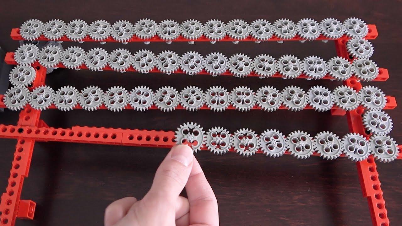 Making the Longest 1:1 Lego Gear Train