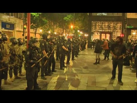 Protesters Remain On The Streets In Seattle At 10 P.m.