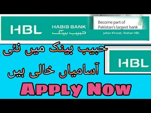 HBL BANK Latest Jobs 2019| PAK BANK Jobs | New Jobs In Pakistan  After Graduation   | HBL Pakistan
