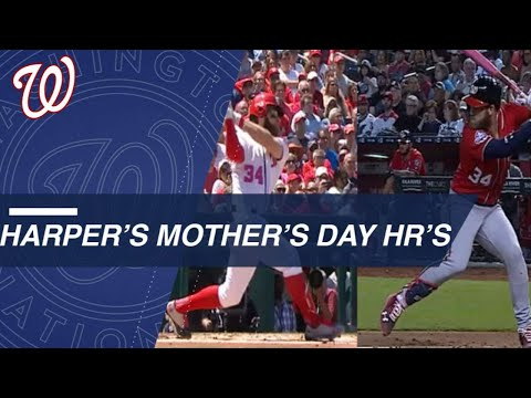 Harper's Mother's Day home runs