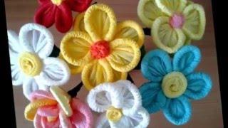 Как сделать цветы из  бумажных салфеток МК(Посмотрите как сделать самые простые цветы из бумажных салфеток. Мастер класс с пошаговым фото и описанием..., 2016-03-10T08:53:53.000Z)