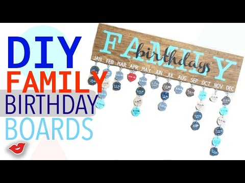 DIY Family Birthday Board! | Tay from Millennial Moms