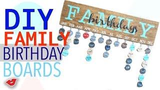DIY Family Birthday Board!   Tay from Millennial Moms