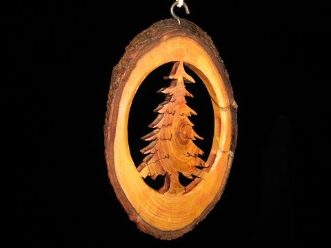 Tree Branch Christmas Ornament - Woodworking // How-To