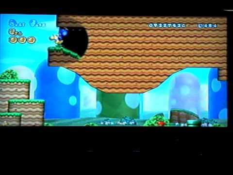 New Super Mario Bros Wii World 1 Cannon World 1 3 Red Flag Youtube