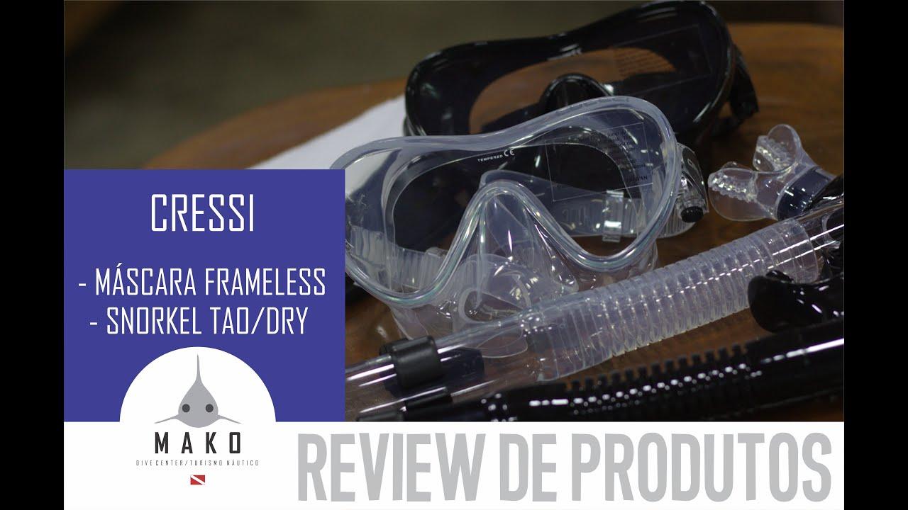 Conheça a Máscara de Mergulho Cressi Frameless