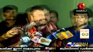 Jayaram and son Kalidasan reaches Sabarimala for Darshan