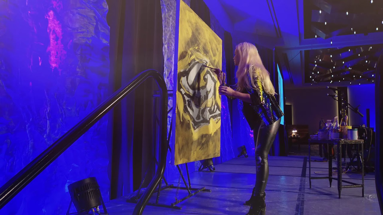 Jessica's Nashville Predators Painting Helps Raise Over $35k For Charity