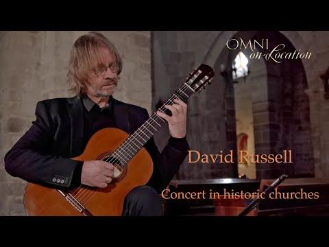David Russell - FULL CONCERT - CLASSICAL GUITAR - Churches of Palencia, Spain - Omni Foundation