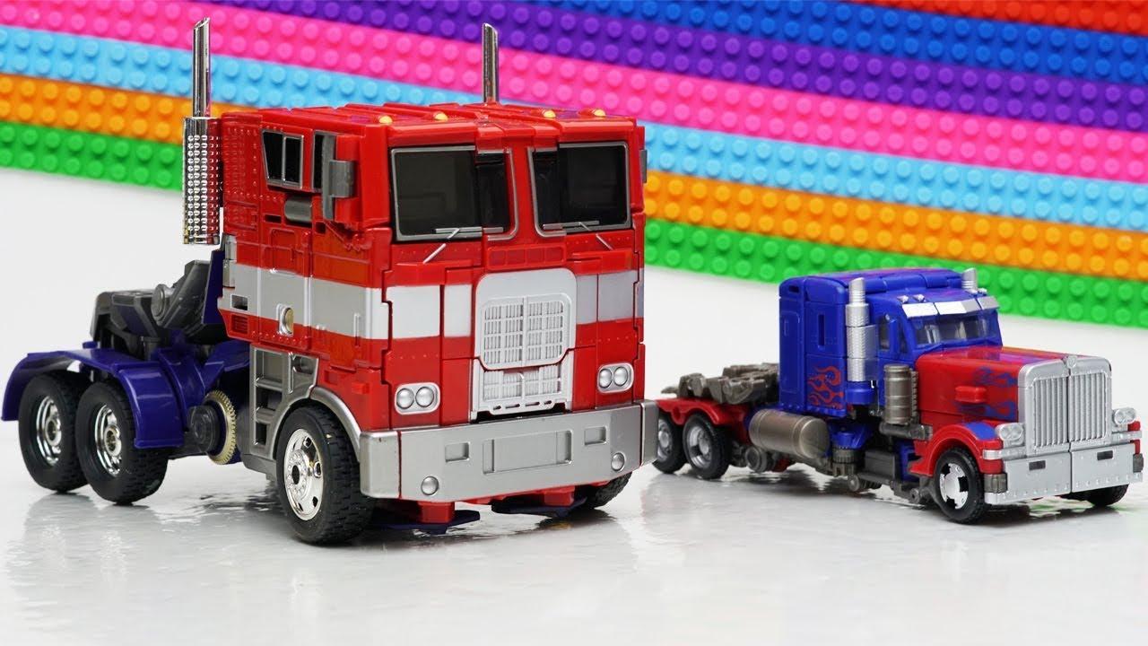 Transformers Optimus Prime, Lockdown Movie Animation Robot Truck Lego Bank Robbery & Car