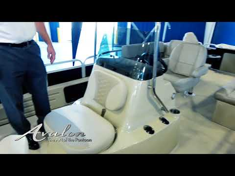 2018 Pontoon Boat AVALON CENTER CONSOLE FISH | Fishing Pontoon Features and Upgrades