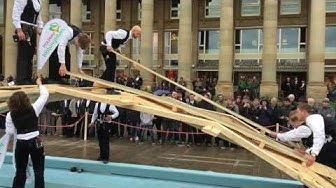 Aufbau einer Da Vinci Holzbrücke