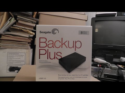 Seagate 8TB USB unboxing, install, teardown, and Drobo test