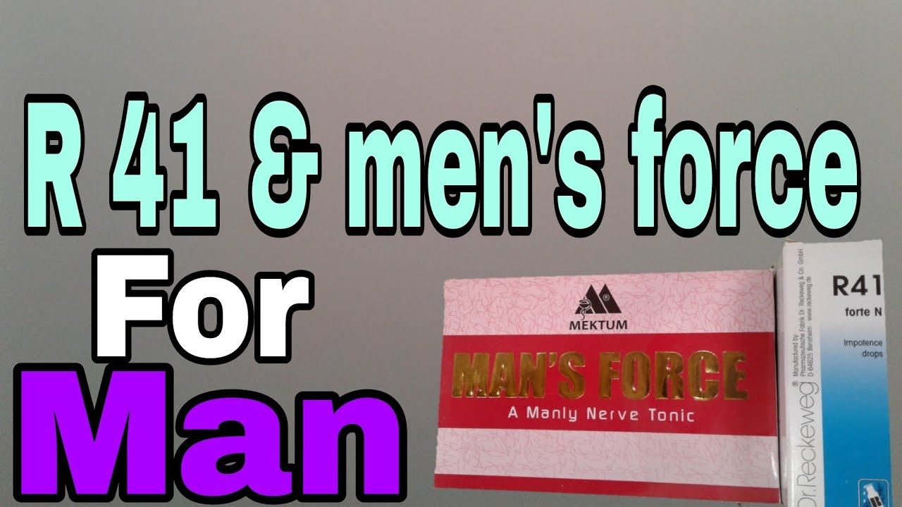 Man's Force Tablet and R 41 Dr reckeweg homeopathic Medicine For Man  by  Dr Hamza Haroon