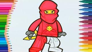เลโก้ นินจาโก 🔴  - สมุดระบายสีมือขนาดเล็ก -นินจาแดง