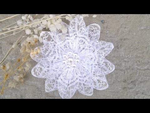 Цветок или бант из кружева своими руками | Flower or lace bow. DIY | Flor o lazo de encaje
