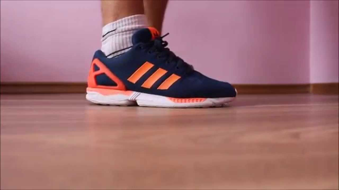 7ca1a81b77528 Adidas ZX Flux orange white blue - YouTube