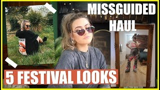 5 AFFORDABLE FESTIVAL OUTFITS! SIZE 14 FASHION FT. MISSGUIDED TRY-ON  HAUL | AD || EmmasRectangle