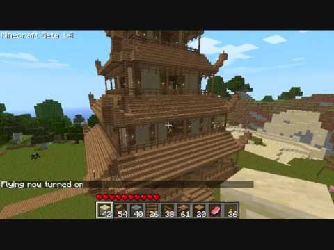 Minecraft Japanese Pagoda minecraft- dojo or pagoda with commentary (download availiable