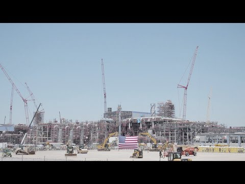 President Trump Tours Sempra Energy's Liquid Natural Gas Facility