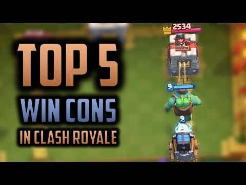 ARE THESE 5 CARDS THE BEST WIN CONS IN CLASH ROYALE!? // Top 5 Cards That You Should Be Using!