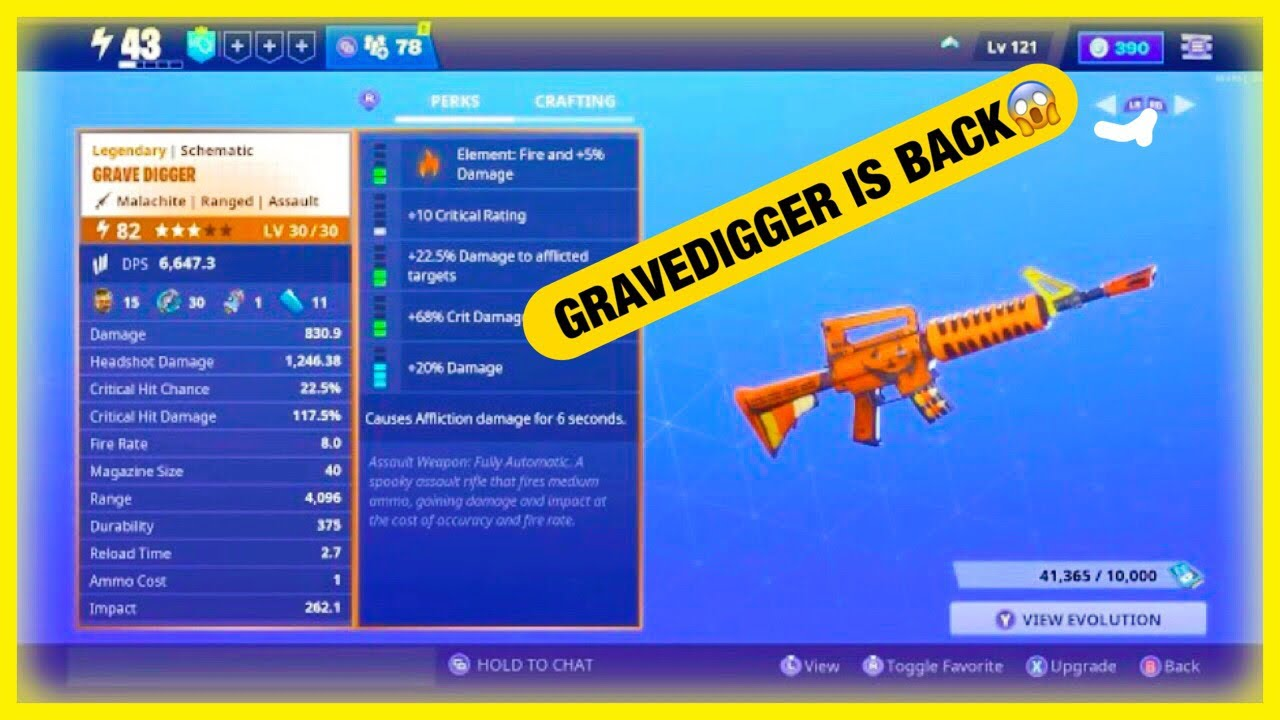 Stw Is The Gravedigger Scematic Coming Back For Halloween 2020 GETTING GRAVE DIGGER SCHEMATIC (FORTINITE SAVE THE WORLD)   YouTube