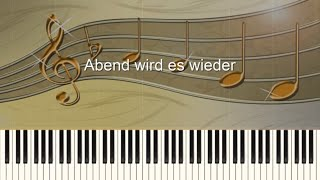 Abend wird es wieder - Piano