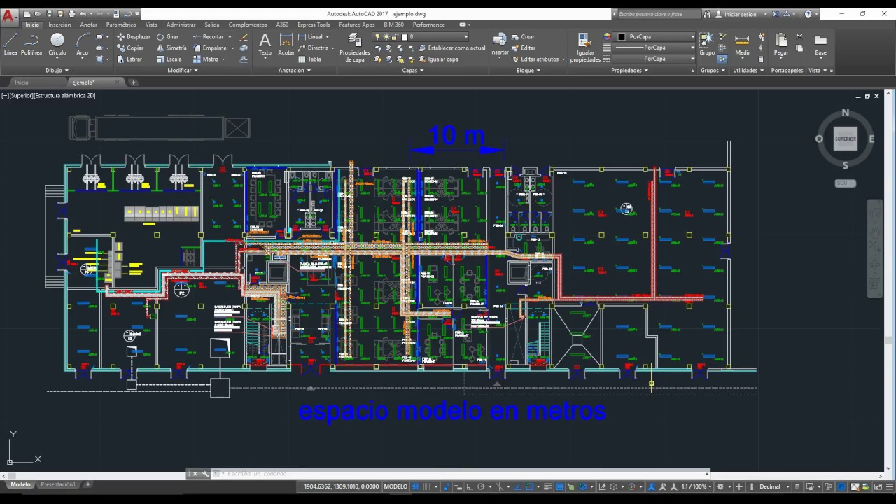 Escalar y plotear planos en autocad 2017 youtube for Planos de piscinas en autocad gratis