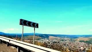 Город Сим Челябинская область. Подъем на тещин язык, направление М5 Уфа-Челябинск