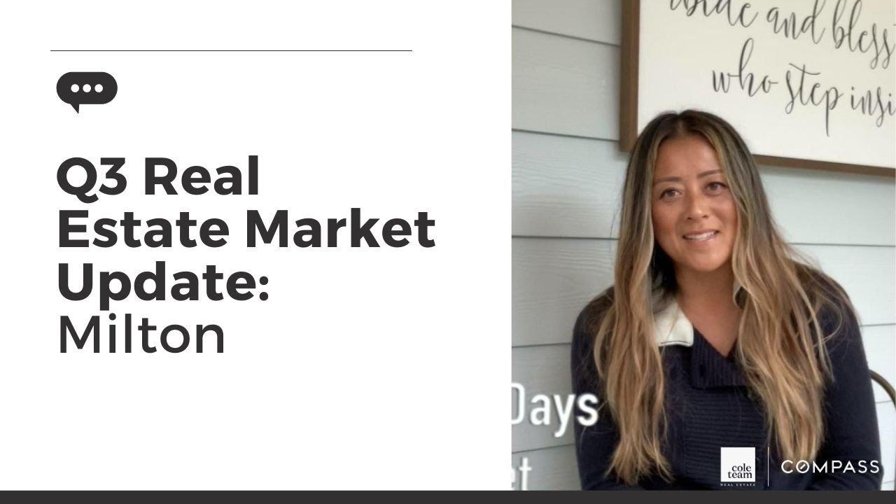 Q3 Real Estate Market Update: Milton