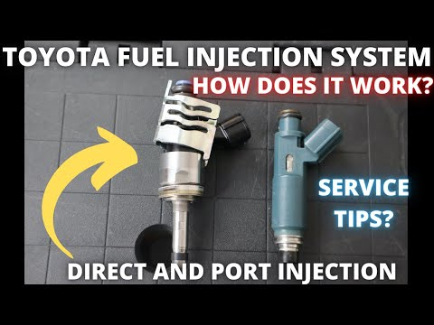 How Toyota fuel system works : Direct and Port