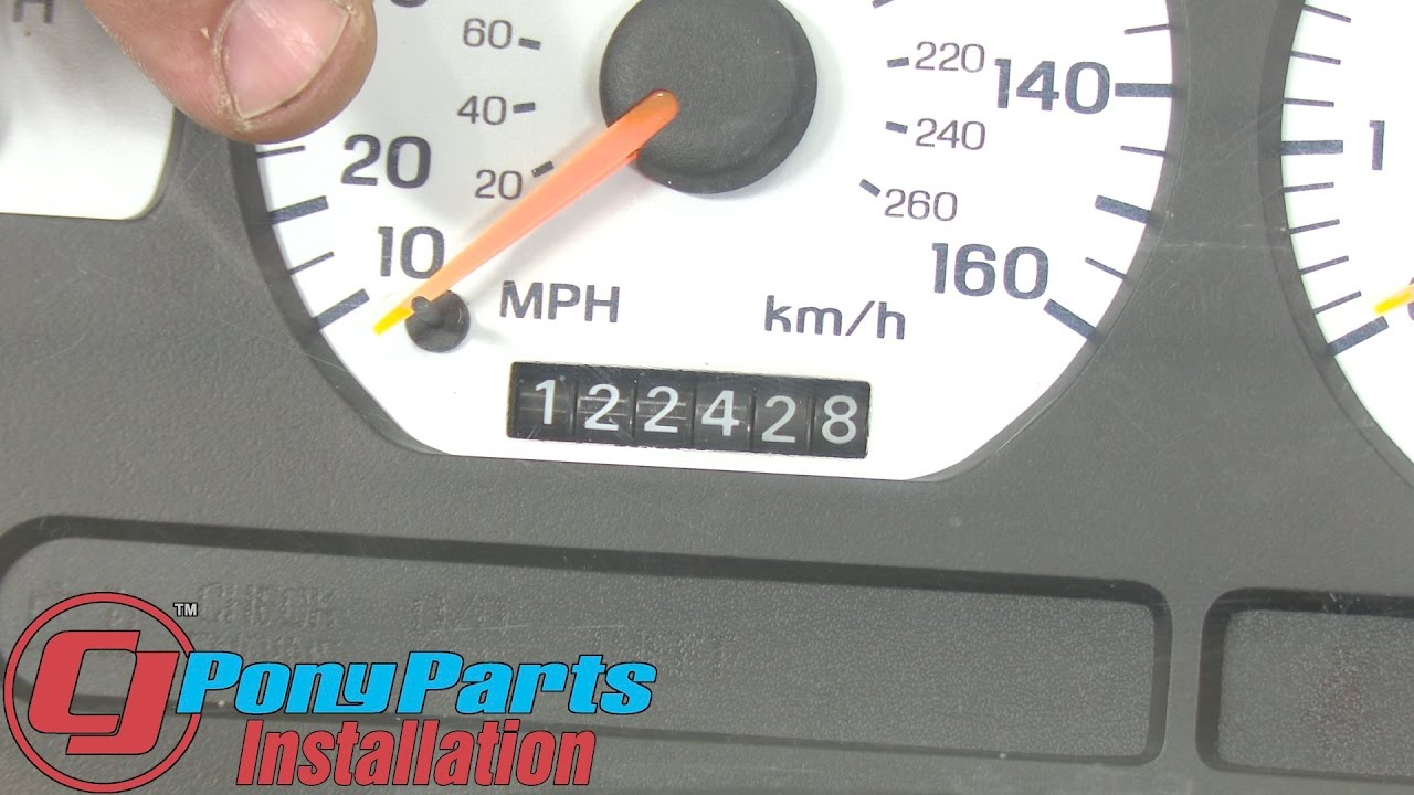 mustang odometer gear repair kit 1994 1998 installation [ 1280 x 720 Pixel ]