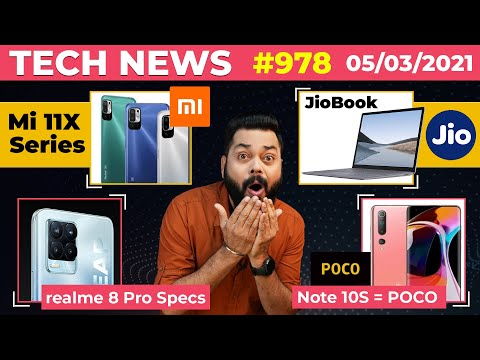 JioBook Laptop Coming, Mi 11X Series India Launch, realme 8 Pro Specs, Redmi Note 10S = POCO-#TTN978