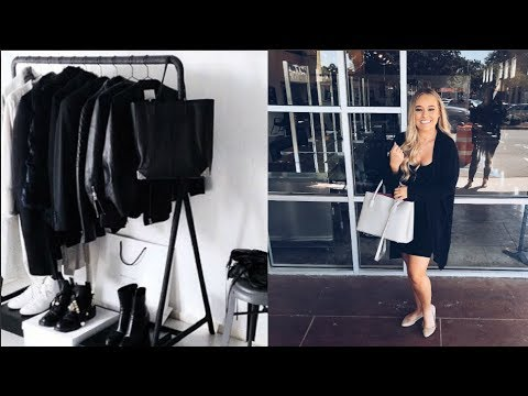 COSMETOLOGY SCHOOL CLOTHING HAUL | ALL- BLACK WARDROBE