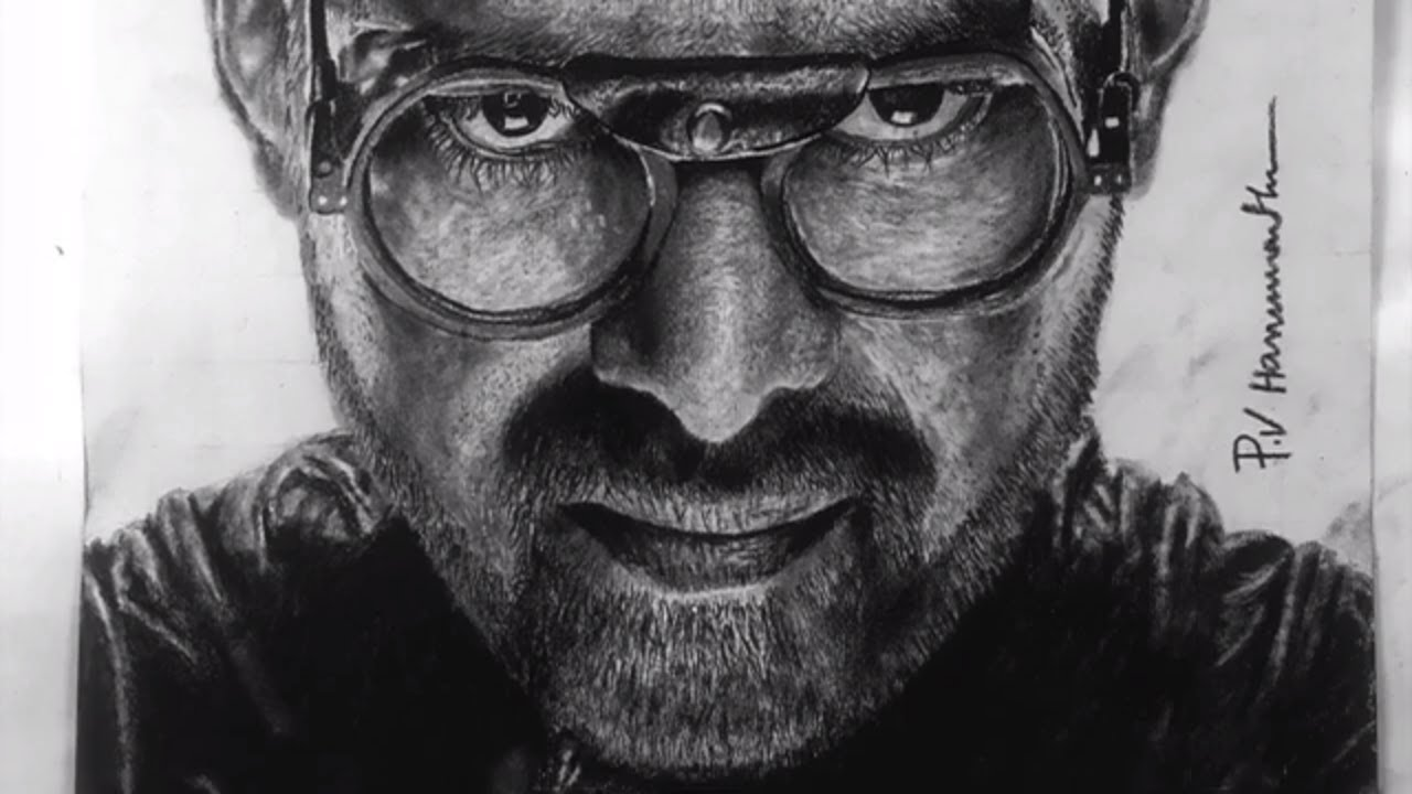 Prabhas drawing from Sahoo movie 2019   Charcoal Pencil ...
