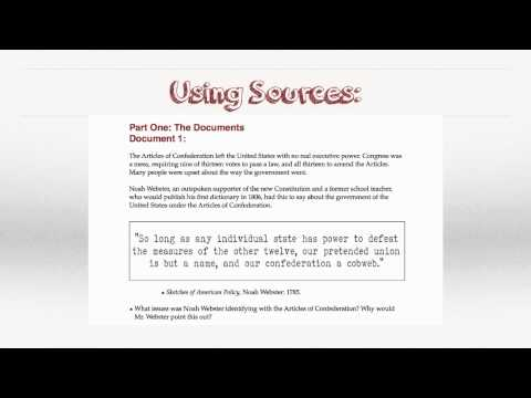 Government-Articles of Confederation DBQ Intro