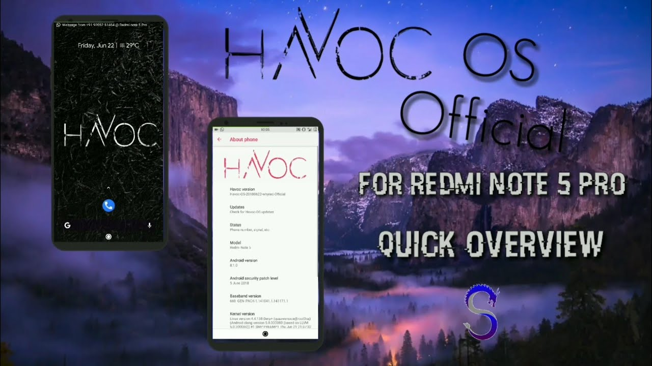 Image result for Install Official Havoc OS On Redmi Note 5 Pro